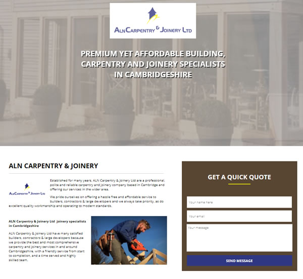 ALN carpentry old website