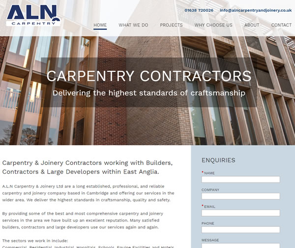 ALN carpentry new website